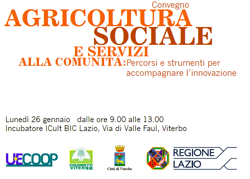 Nasce a Viterbo lo Sportello Sociale al servizio dell'Agricoltura Sociale