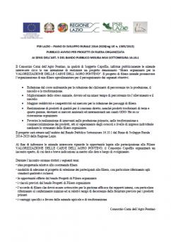 Avviso Pubblico - Lazio